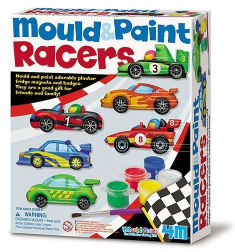 Image of Make you own Racer magnets - Mould & Paint fra 4M (4M-3544)