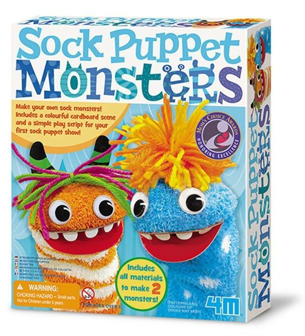 Image of Sock Puppet Monsters - Creative Craft fra 4M (4M-4619)