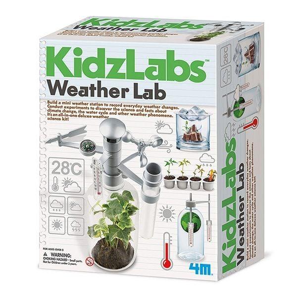 Image of   Weather Lab fra 4M KidzLabs - Byg en mini-vejrstation