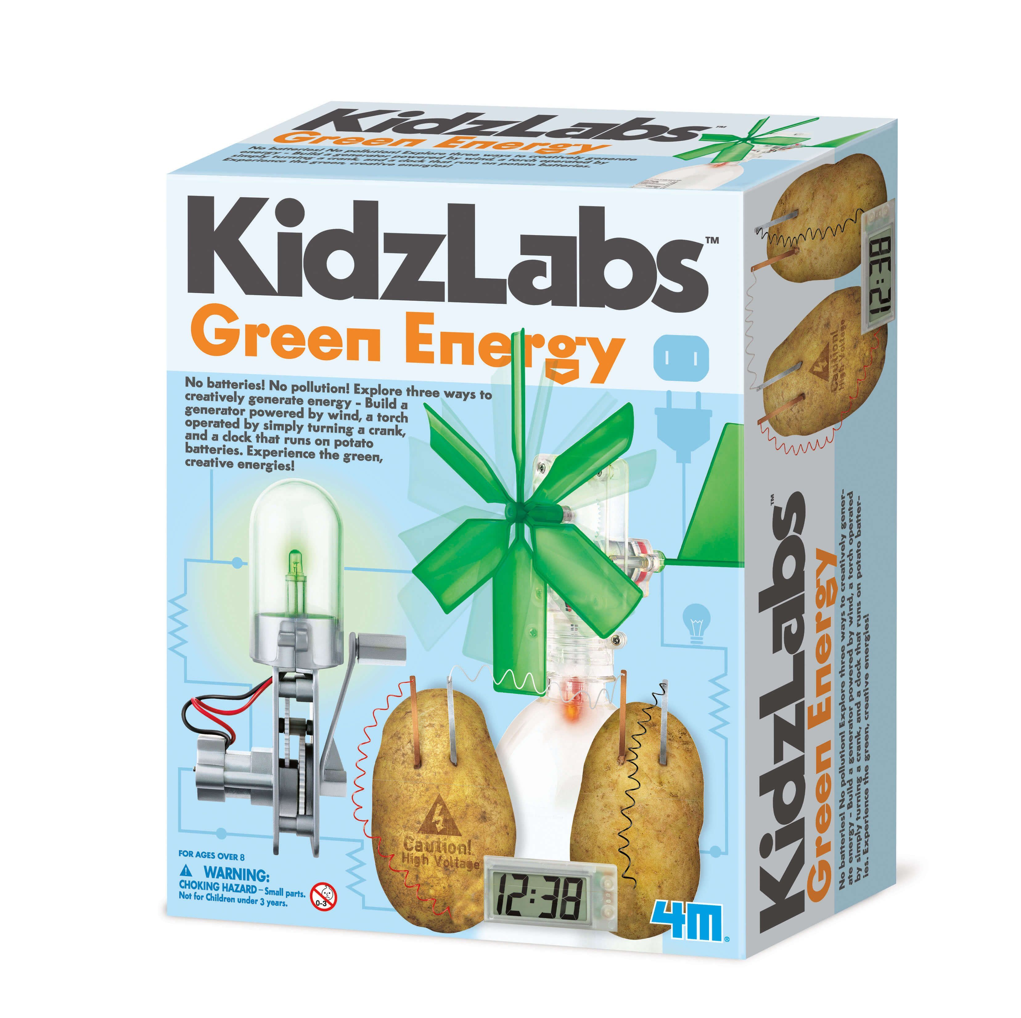 Image of Green Energy fra 4M KidzLabs - Skab Grøn Energi på 3 måder (4M-5531)