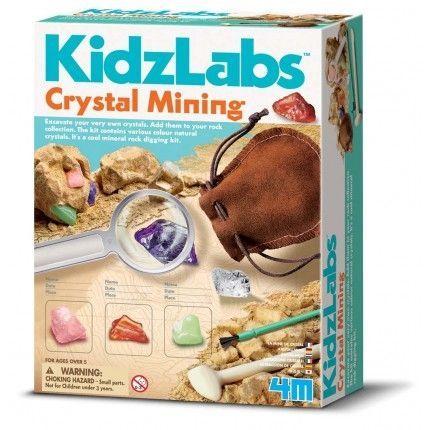 Image of   Krystal Minedrift - Crystal Mining - KidzLabs fra 4M