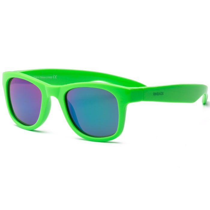 Real kids shades – Solbriller fra real shades - surf flex - neon grøn på babygear.dk