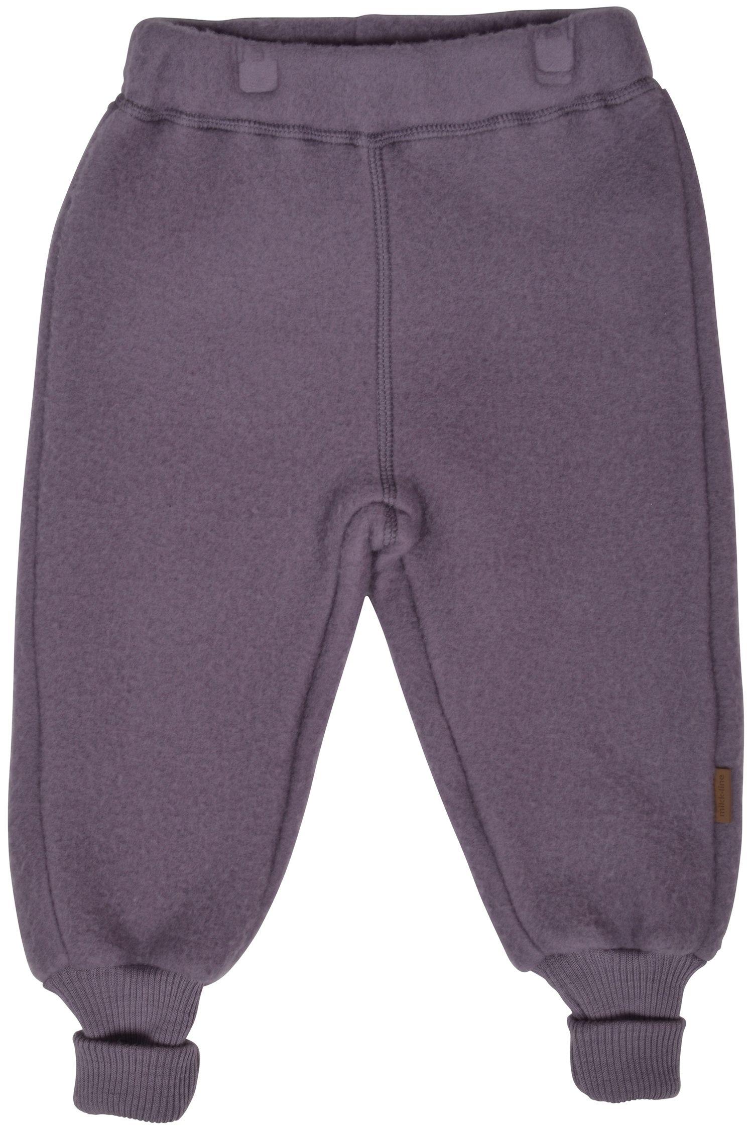 Billede af Uldbukser fra Mikk-Line - Støvet blomme