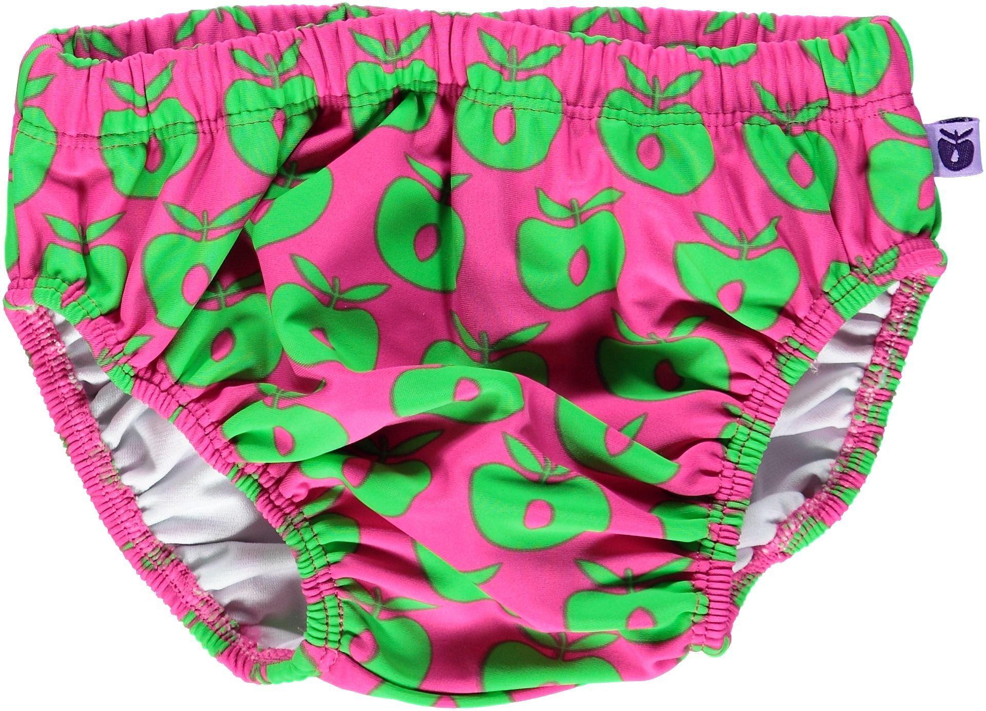 Image of   Blebadebukser fra Småfolk - Pink m. grønne æbler