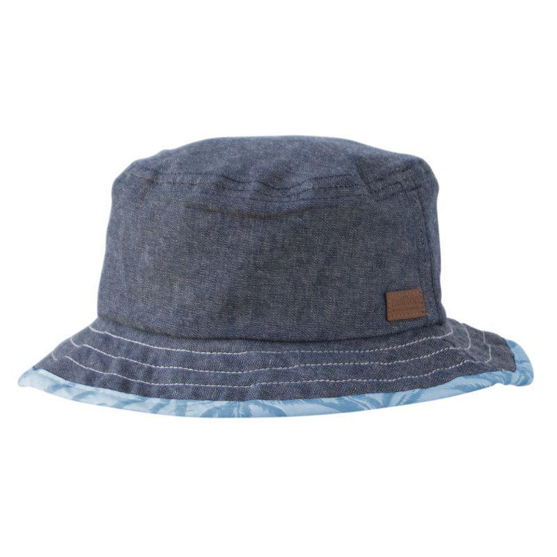 Bøllehat fra Melton (UV30+) - Vendbar - Denim / Blue Hawaii