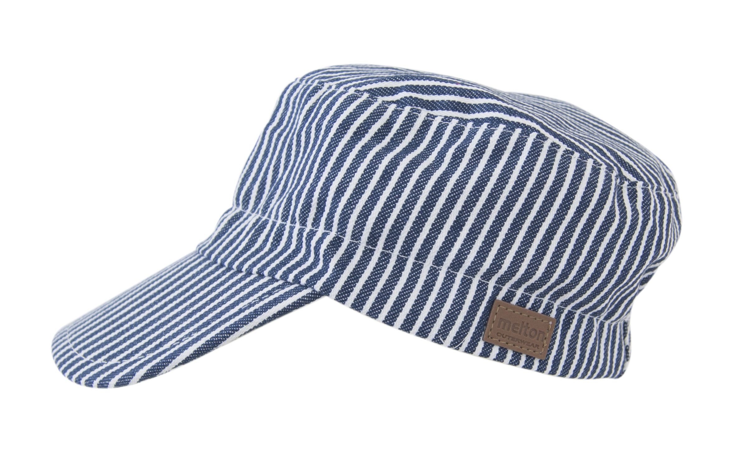 Sun Cap fra Melton - Kasket - Denim / White Stripe