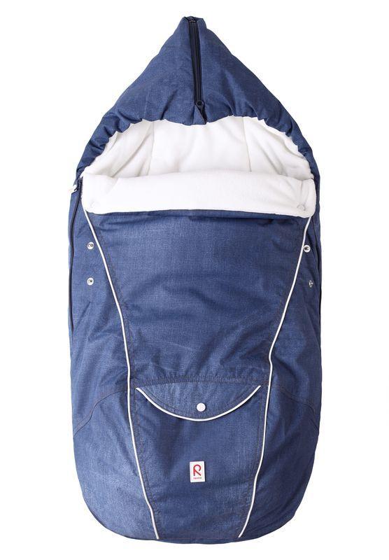 Baby kørepose m. hætte fra Reima - Chort - Jeans