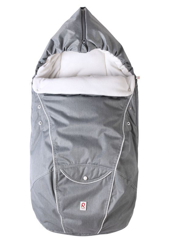Baby kørepose m. hætte fra Reima - Corbus - Grey melange
