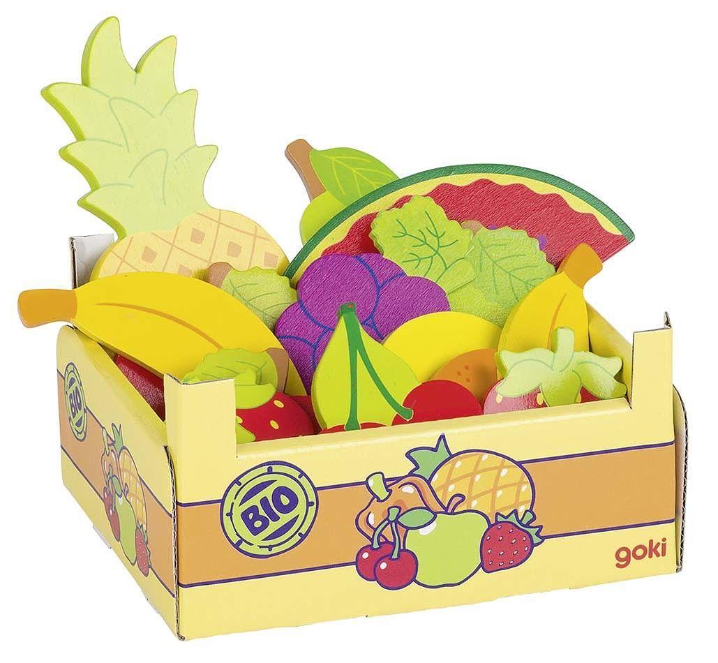 Goki – Legemad fra goki - kasse m. økologisk frugt (15 dele) fra babygear.dk