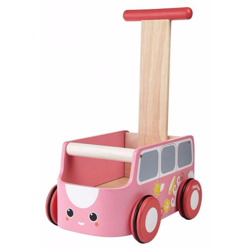 Gåvogn fra Plantoys - Bæredygtigt træ - Pink