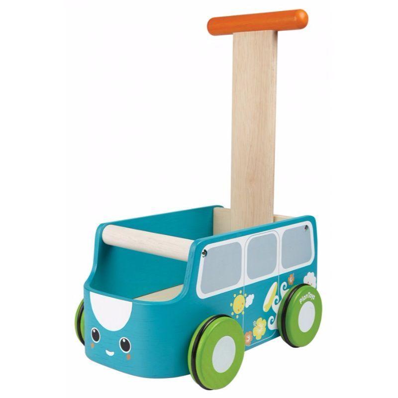Gåvogn fra Plantoys - Bæredygtigt træ - Blå