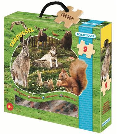Billede af Træpuslespil med skovens dyr (2+)