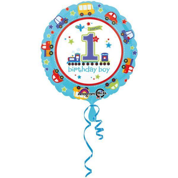 Amscan Ballon - folie - 1st birthday boy (43cm) fra babygear.dk
