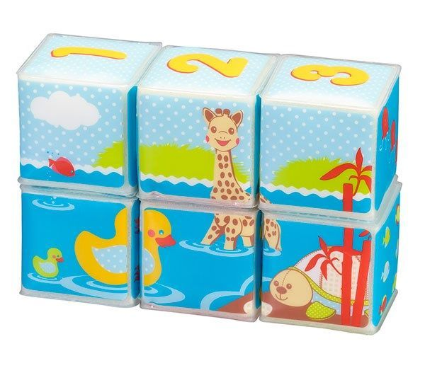 Image of   Badelegetøj fra Sophie Giraf (Vulli) - Bath Cubes