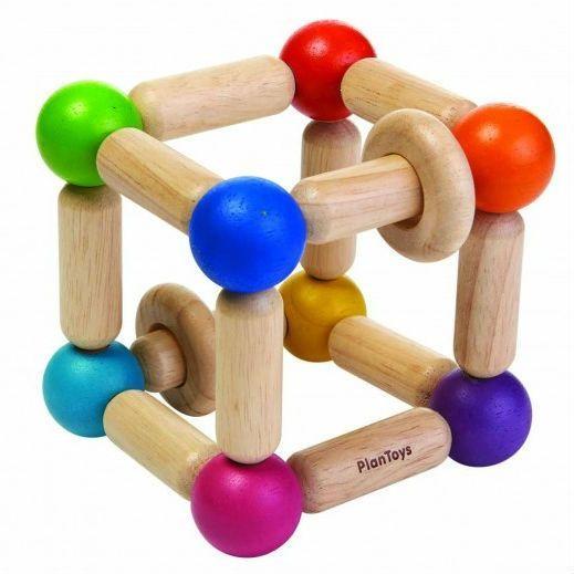Image of   Firkantet gribe-legetøj fra Plantoys - Bæredygtigt legetøj