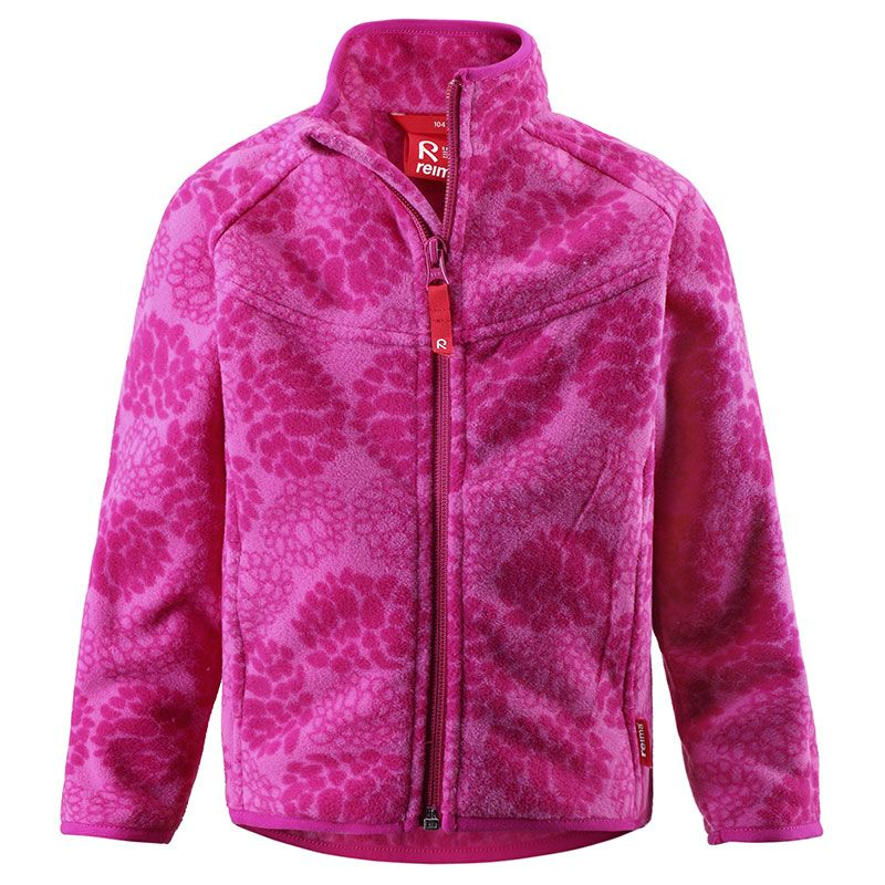 Image of   Fleece jakke fra Reima - Else - Fuchsia m. blomster
