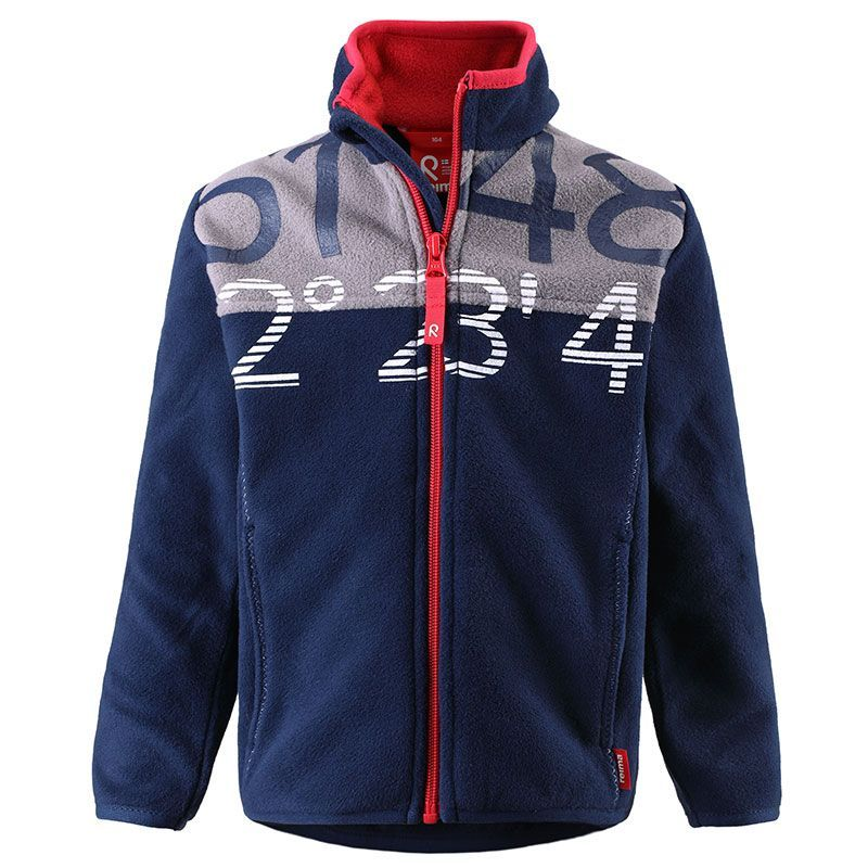 Image of   Fleece jakke fra Reima - Chris - Navy m. bogstaver
