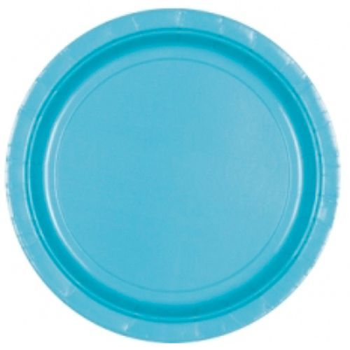 Image of   Lille paptallerken - Caribbean Blue (8 stk)