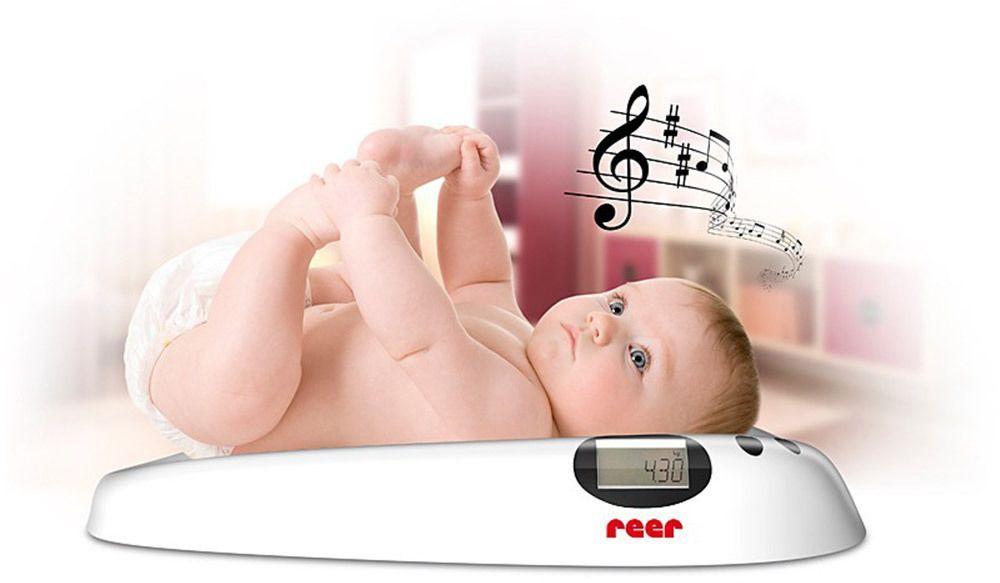 Image of Ergonomisk baby vægt m. musik fra Reer (RE6409)