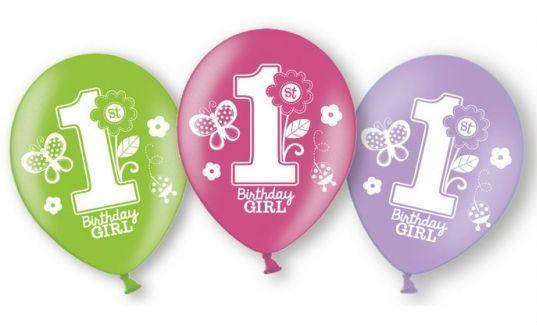 Balloner - Latex - Sweet Birthday Girl (6 stk)
