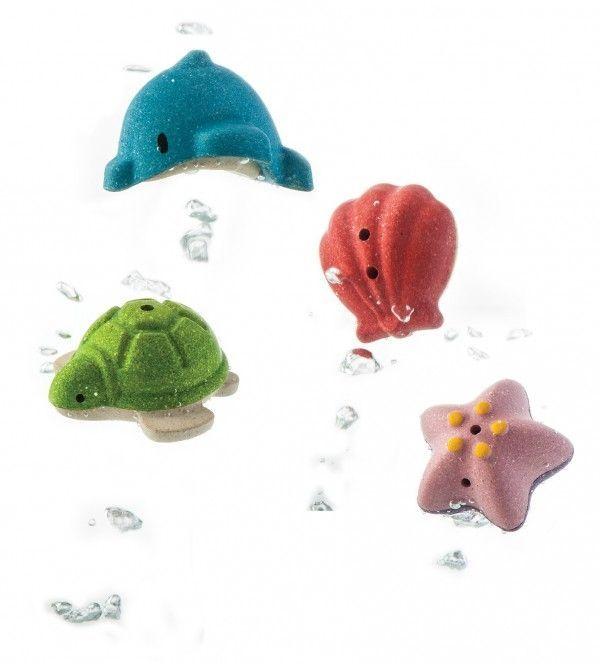 Badesæt m. havdyr fra Plantoys - Bæredygtigt legetøj