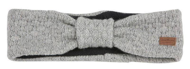 Pandebånd i lammeuld fra Melton i  Lys gråmeleret