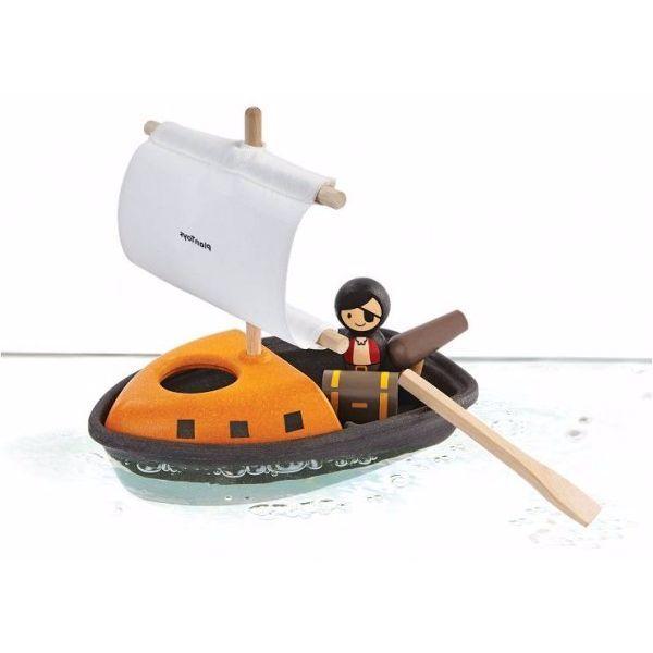 Image of   Piratbåd fra Plantoys - Bæredygtigt badelegetøj