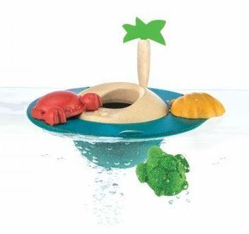 Billede af Badelegetøj fra Plantoys - Flydende ø - Bæredygtigt legetøj