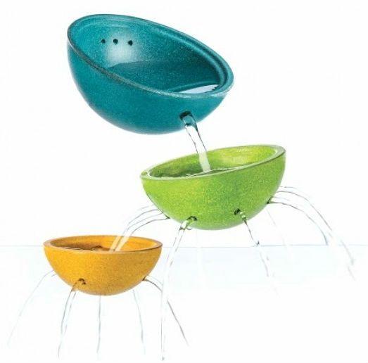 Billede af Badelegetøj fra Plantoys - Springvandsskåle sæt - Bæredygtigt legetøj