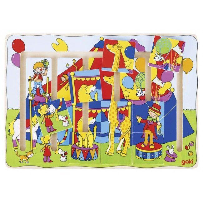 Image of Sliding puzzle fra Goki - Cirkus Fantasi (3+) (57595)
