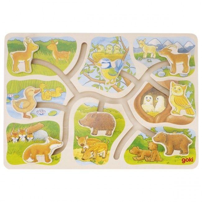 Sliding puzzle fra Goki - Hvem bor hvor? (3+)