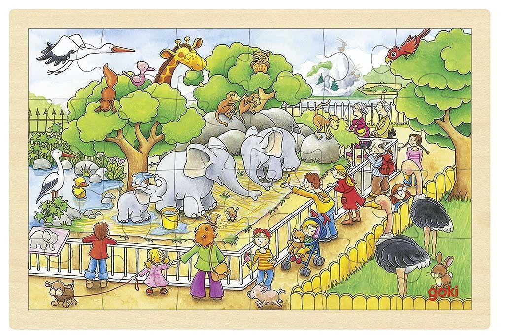 Image of Puslespil fra Goki - Besøg i Zoo (3+) (4013594578080)