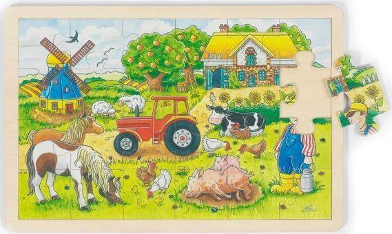 Image of Puslespil fra Goki - Mr. Millers Farm (3+) (57891)