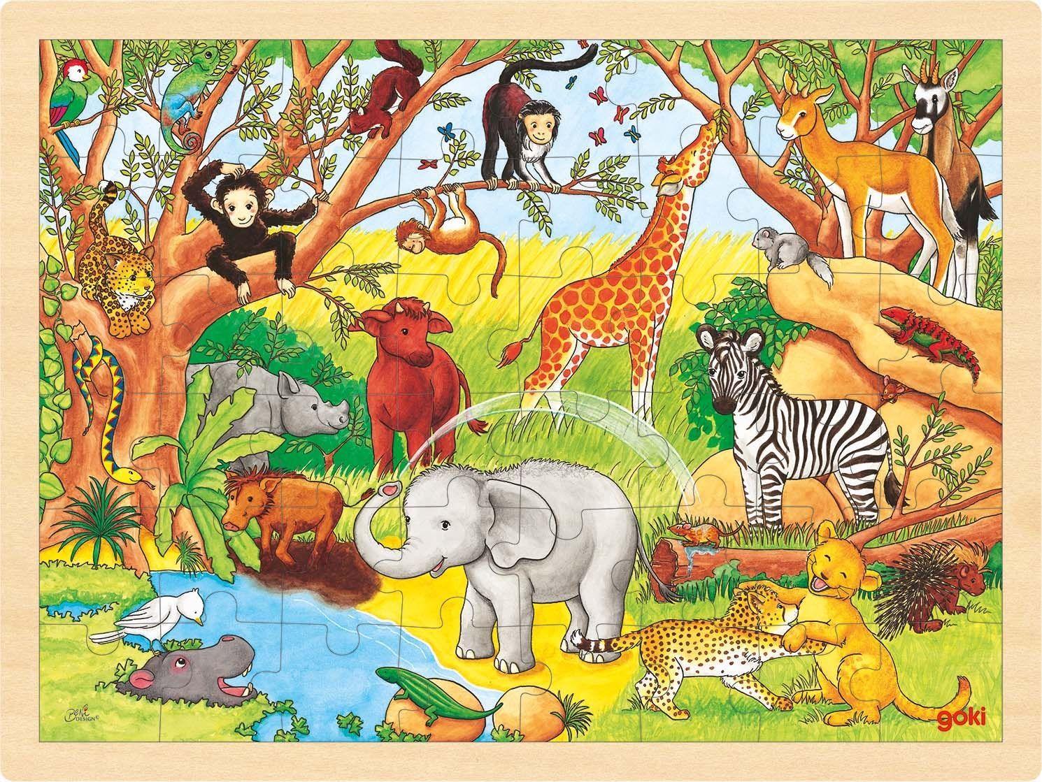 Image of Puslespil fra Goki - Afrika (3+) (57892)