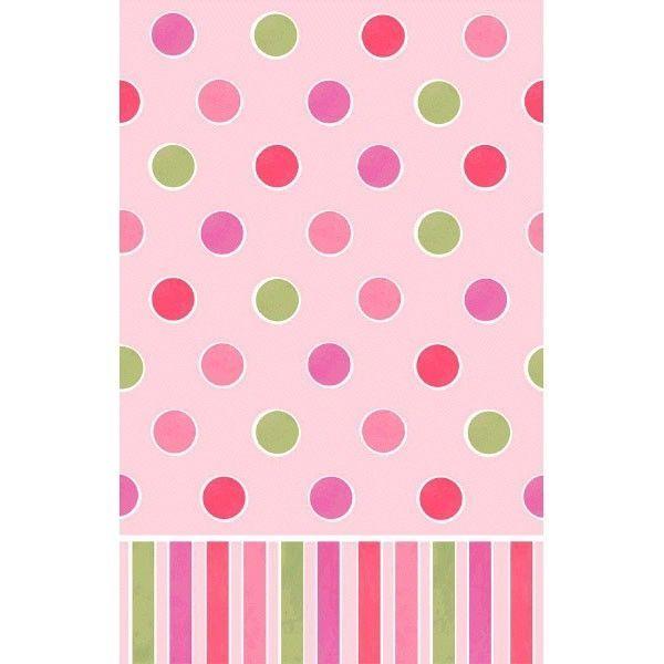 Plastik dug - Dots - Baby Pink