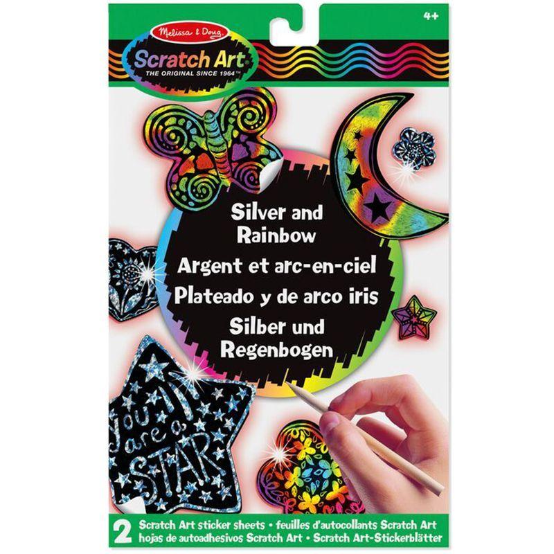 Billede af Scratch Art fra Melissa & Doug - Silver & Rainbow Klistermærker