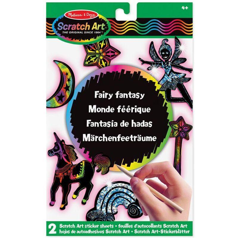 Billede af Scratch Art fra Melissa & Doug - Fairy Fantasy Klistermærker