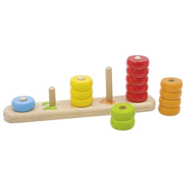 Tælle og sortere legetøj fra Goki - Douche farver