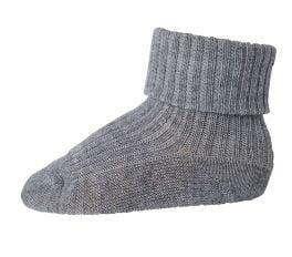 Image of Rib strømper i uld fra MP i gråmeleret (589-491)
