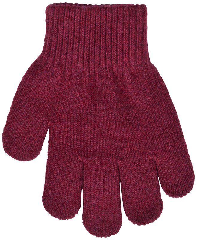 Image of Fingervanter i uld fra Melton i Aubergine (5890-746)