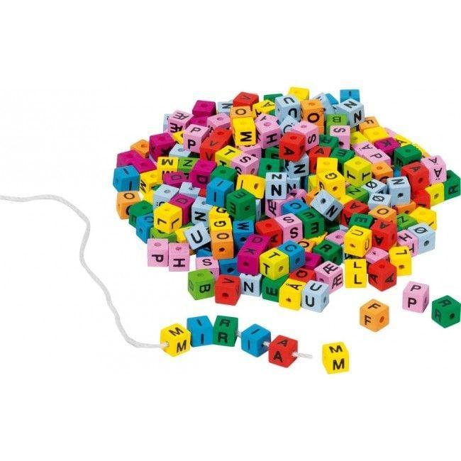Image of Bogstaver på snor - Letter cubes fra Goki (58908)