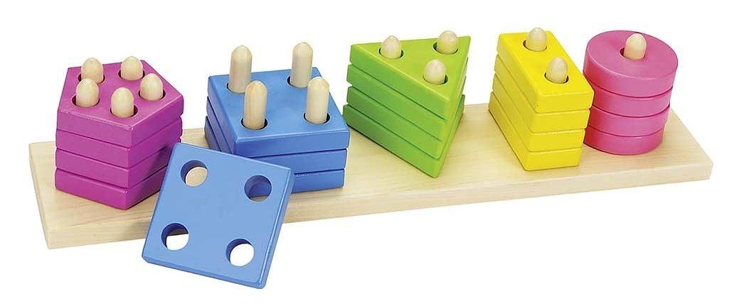 Image of   Sorteringslegetøj fra Goki - Farve, Form, Tal (2+)