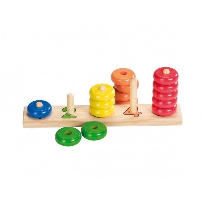 Image of   Tælle og sortere legetøj fra Goki - Klare farver