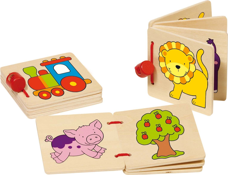Image of Lille bog i træ fra Goki - Lokomotiv el. løve (1 stk) (59983)