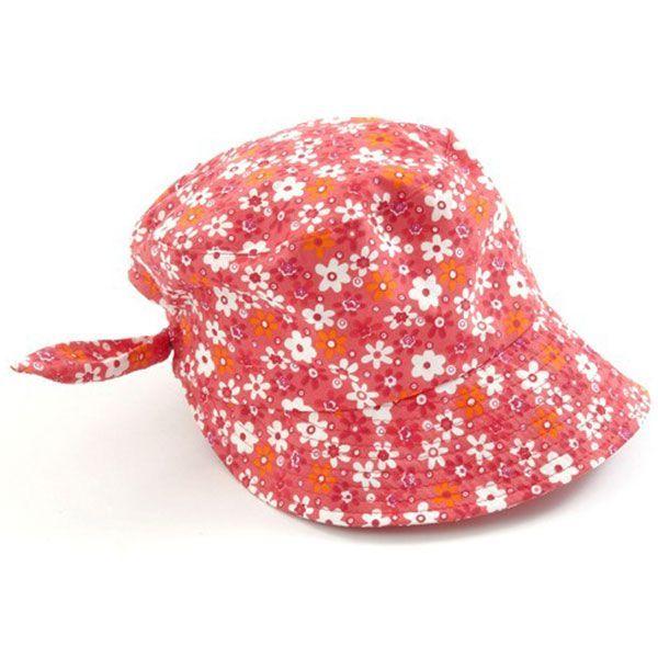 Image of   Sun cap fra Smallstuff - Red Flower