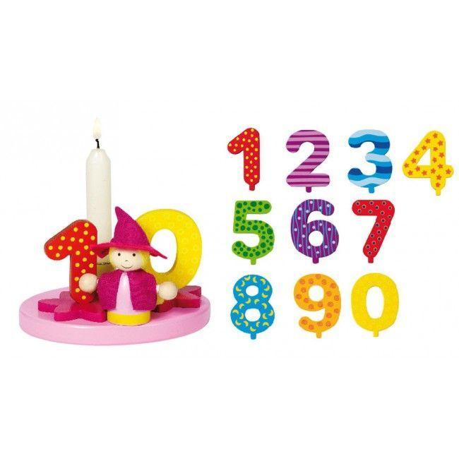 Fødselsdag dekoration m. lys og tal - Lille Fe thumbnail