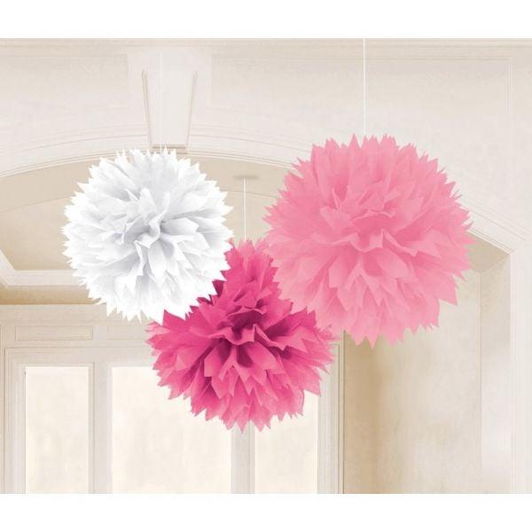 Image of   Fluffy lanterner Ø40 cm - Rose (3 stk)