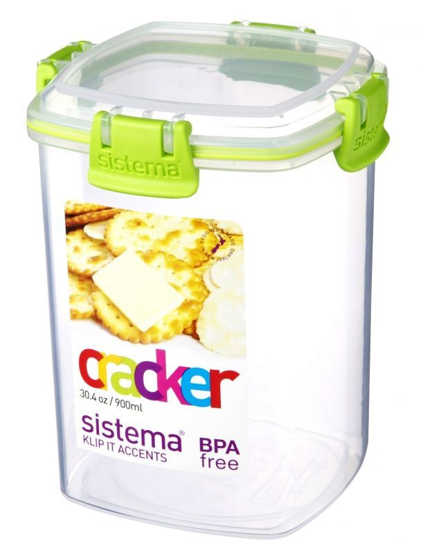 Image of   Cracker Box fra Sistema - 900 ml - Lime accents
