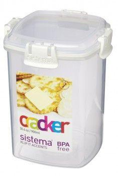 Image of   Cracker Box fra Sistema - 900 ml - hvid accents