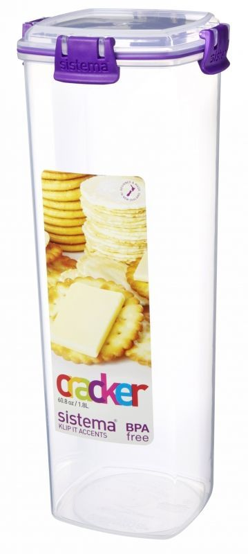 Image of   Cracker Box fra Sistema - 1.8 liter - Lilla accents